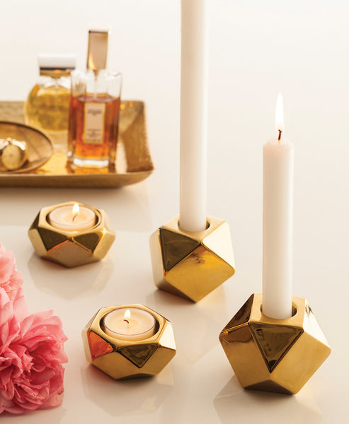 Lumiere Tealight Holders-Set of 2