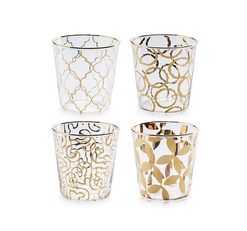 Luxe Moderne Double Old Fashioneds-Set of 4