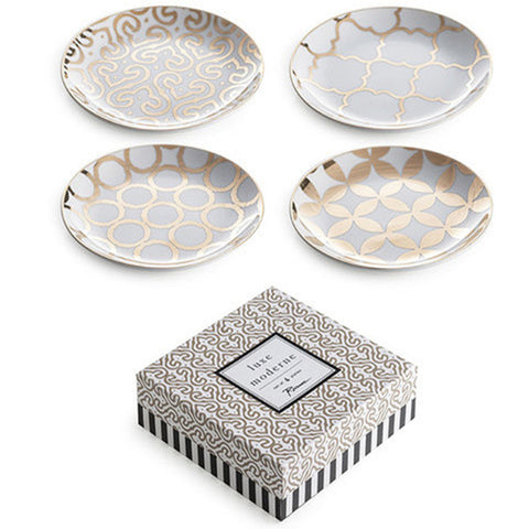 Luxe Moderne Appetizer Plate-Set of 4