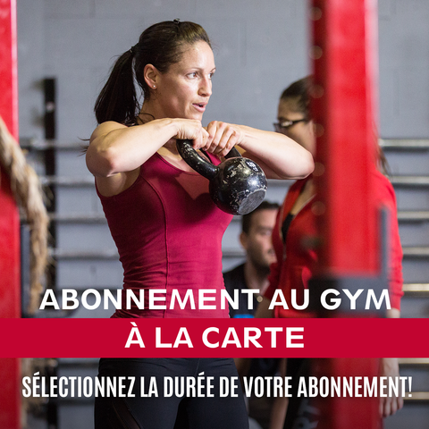 Abonnement au gym à la carte