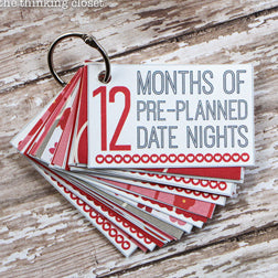 12 Months of Pre-Planned Date Nights by The Thinking Closet