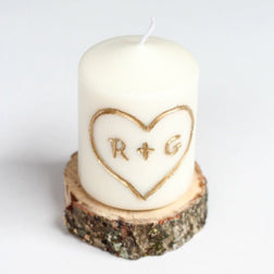 Hello Glow carved love candle tutorial