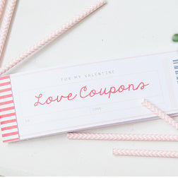 Free printable love coupons from Capturing Joy