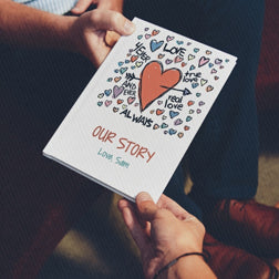 Tell your love story in a love book