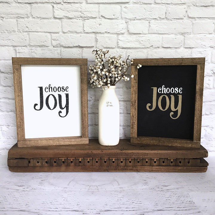 Choose Joy Hand Painted Wood Sign