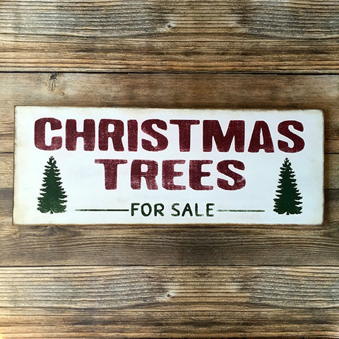 Rustic Christmas Trees For Sale Wood Sign