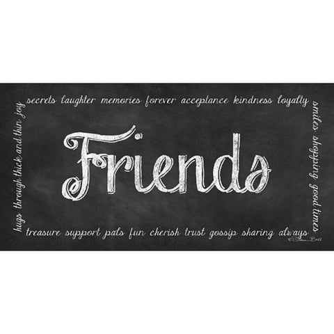 Friends Chalkboard Art Print