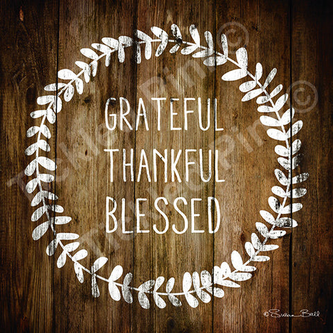 Grateful Thankful Blessed Print