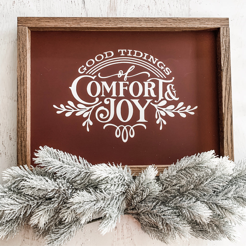 Good Tidings of Comfort and Joy Sign