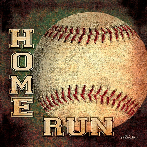 Home Run Baseball Print