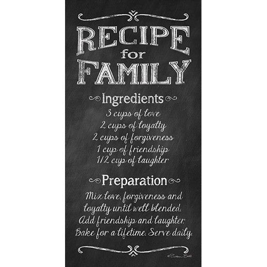 Recipe for Family Art Print