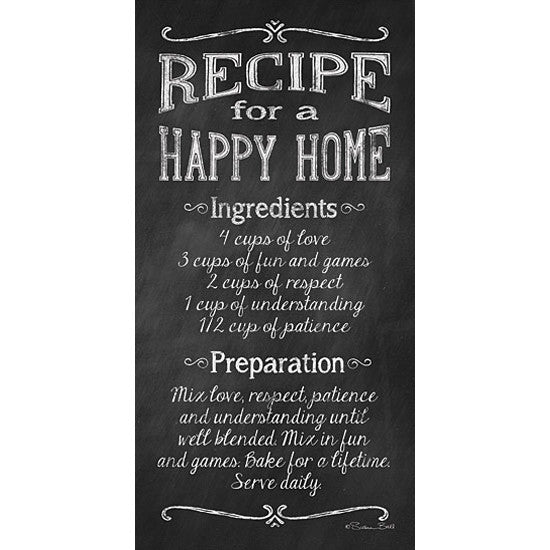 Recipe For A Happy Home Art Print The Good Co