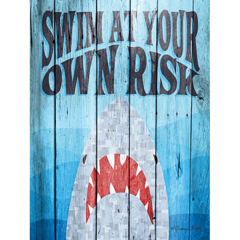 Swim At Your Own Risk Beach Print