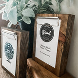 Wood Block Photo Frame