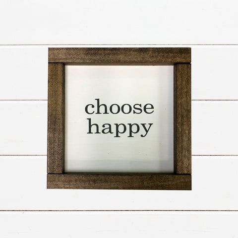 Choose Happy Farmhouse Style Sign