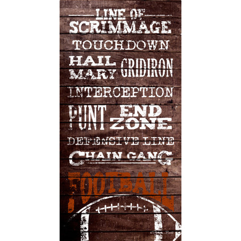 Football Terms Touchdown End Zone Print