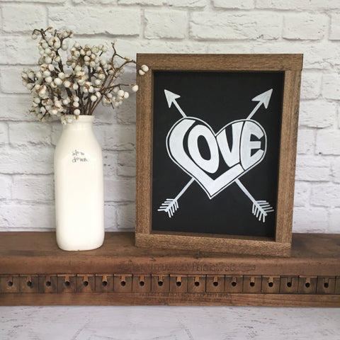 LOVE Heart Hand Painted Sign