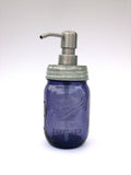 Mason Jar Soap Dispenser with Stainless Steel Pump - Purple Pint Limited Heritage Edition