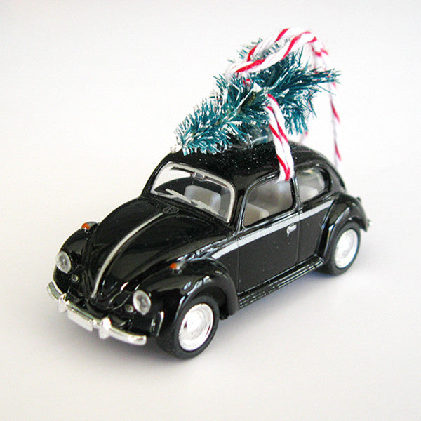 VW Bug Beetle Christmas Ornament with Tree on Top – The ...