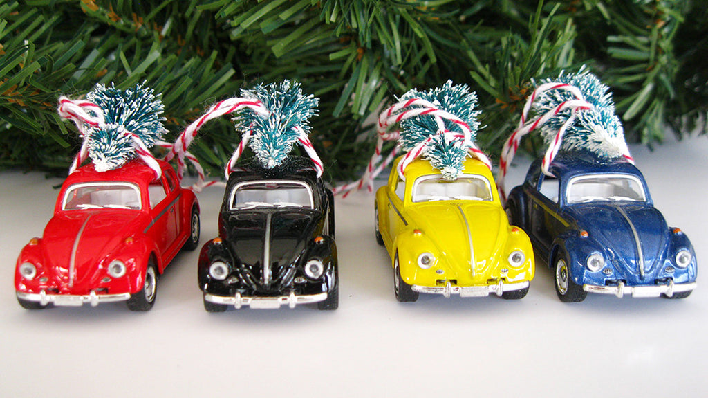 VW Bug Beetle Christmas Ornament with Tree on Top - VW Bug Beetle Christmas Ornament With Tree On Top €� The Good Co.