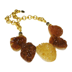 Citrine Drusy Necklace by Carol Lipworth Designs