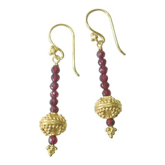 Garnet and vermeil earrings