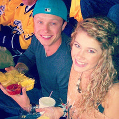 sophie and zack at the preds game 2012