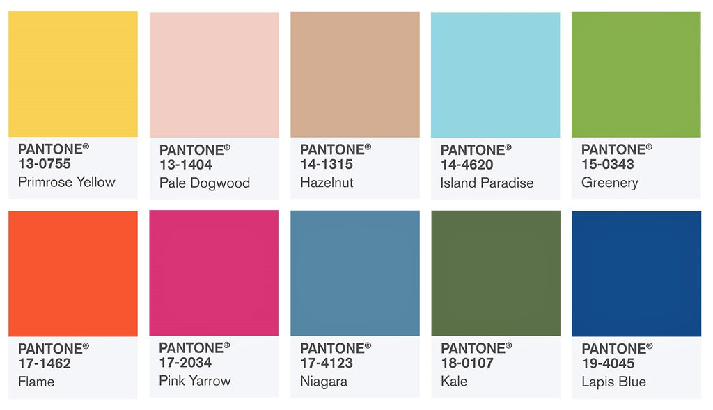 Pantone colors for 2017