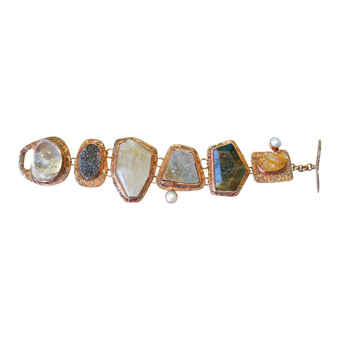 Mixed Stone & Copper Bracelet