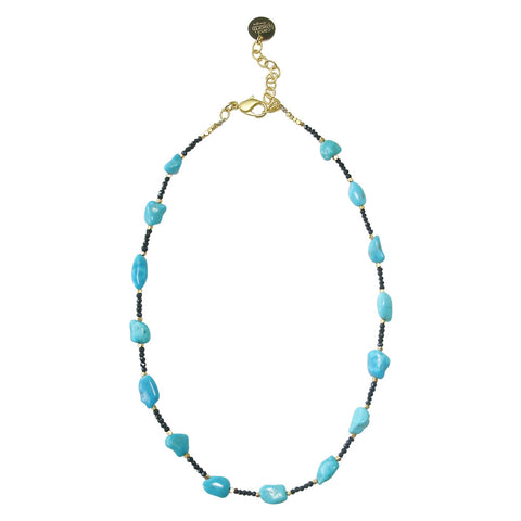 Sleeping Beauty Turquoise & Spinel Necklace