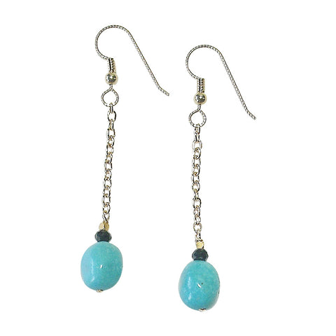 Sleeping Beauty Turquoise & Gold Fill Earrings