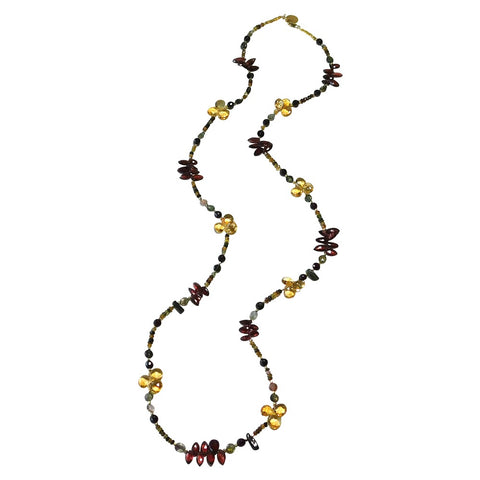 Tourmaline, Garnet & Citrine Necklace