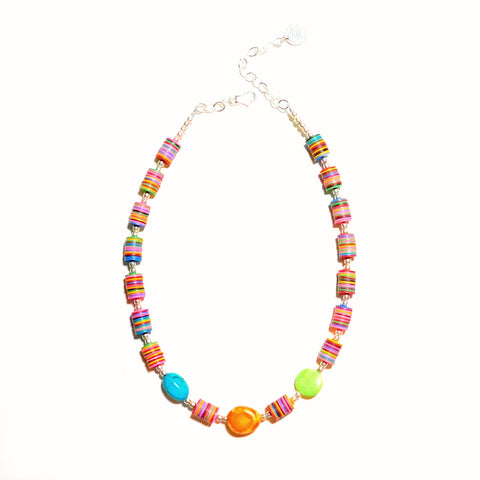 Carnivale Collection Multi-color Necklace with Stones