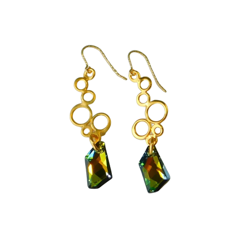 Swarovski Crystal & Gold Earrings