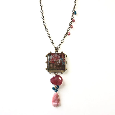 Resin & Swarovski crystal Necklace