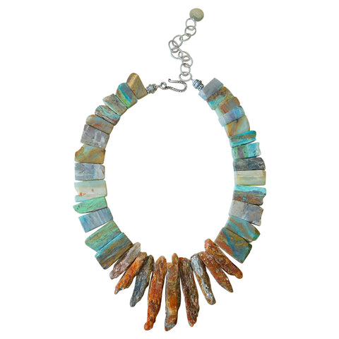 Kyanite & Peruvian Opal Necklace