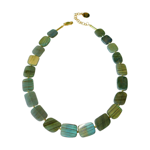 Labradorite Slice Necklace