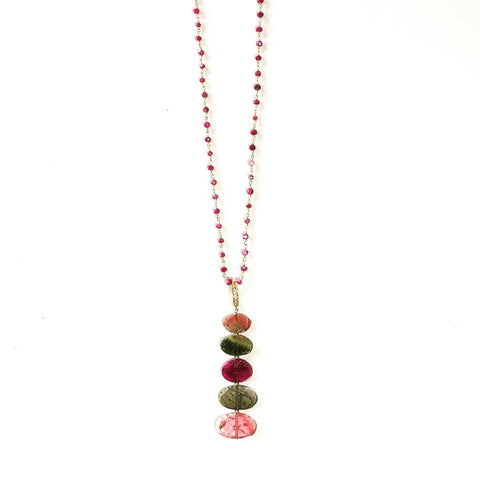 Multi-color Tourmaline & Sapphire Necklace