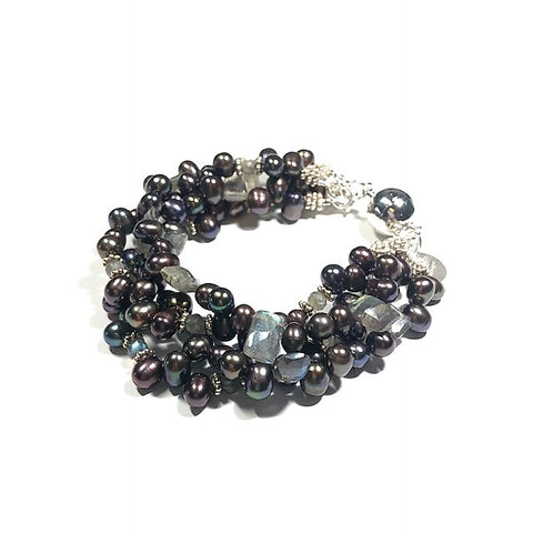 Pearl and Labradorite Bracelet