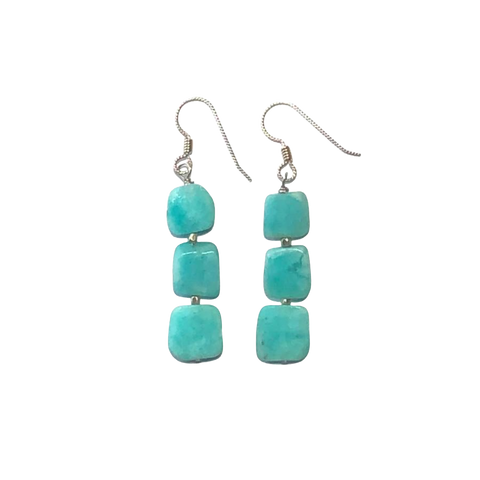 Amazonite & Silver Earrings