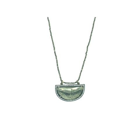 Pyrite Long Necklace