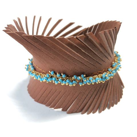 Leather Feather Bracelets