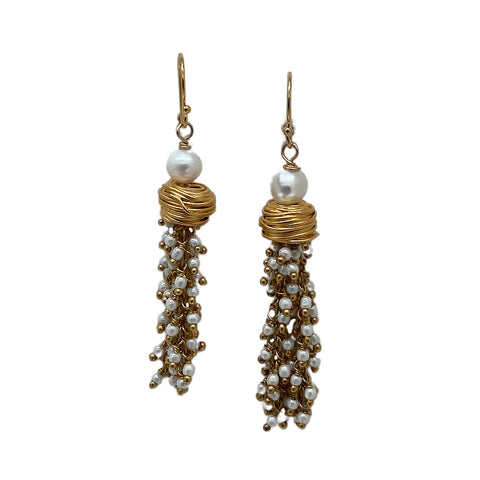 Pearl and Gold Plate Earrings