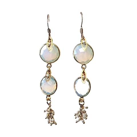 Opalite & Pearl Earrings