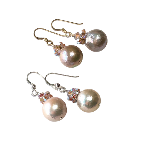 Baroque Pearl & Crystal Earrings