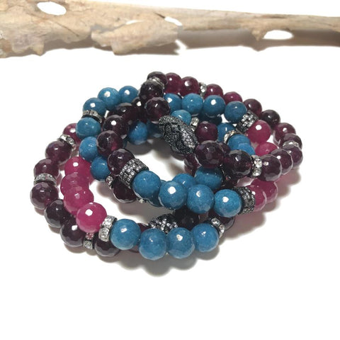 Jewel-tone Stacking Bracelets