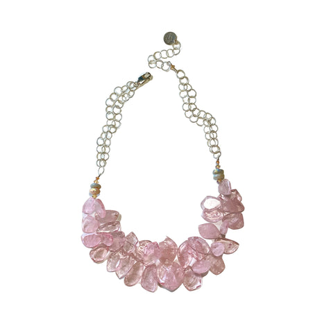 Morganite and Silver Necklace