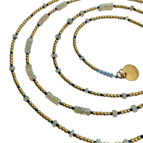 Ethiopian Opal & Gold Necklace
