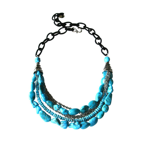 Sleeping Beauty Turquoise & Silver Necklace