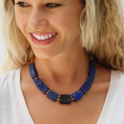 Lapis & Tourmaline Necklace